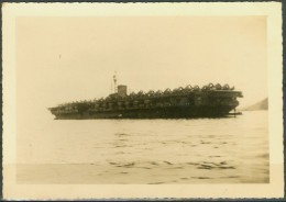 AIRCRAFT CARRIER FRANKLIN DELANO ROOSEVELT ANCHORED AT GUANABARA BAY   - REAL PICTURE  1946 - Guerre, Militaire