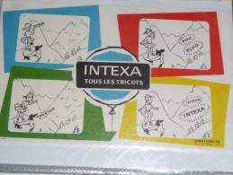 BUVARD Publicitaire    INTEXA Tricos - Textile & Vestimentaire