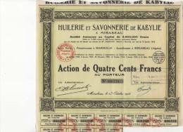 HUILERIE ET SAVONNERIE DE KABYLIE - Actions & Titres