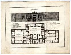ARCHITECTURE   NEWGATE  PRISON  PLANCHE  GRAVURE  LITHOGRAPHIE XVIII°  XIX° - Architectuur