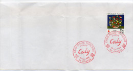 1984-cachet FDC 1er Jour -24 Nov 1984--tp Surtaxé  Croix-Rouge  CALY Sur Enveloppe - FDC