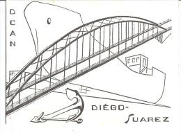 D.C.A.N.  DIEGO-SUAREZ  VOEUX ADRESSES A MR DECUGIS MAIRE D'HYERES 1964 - Cartes