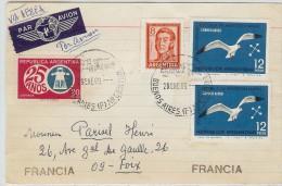 LBL33/B - ARGENTINE CARTE POSTALE  AVION  BUENOS AIRES / FOIX 29/1/1969 - Poste Aérienne