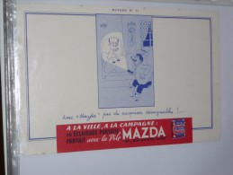 BUVARD Publicitaire  Lampe MAZDA  11 - Electricité & Gaz