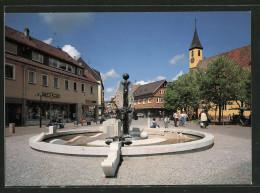 AK Nürtingen, Fussgängerzone Mit Ochsenbrunnen Und Kreuzkirche - Deutschland