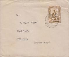 G)1937 PERU, GUANO DEPOSITS, CIRCULAR PERU CANC., CIRCULATED COVER TO PUERTO RICO, XF - Peru