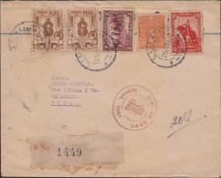 G)1940 PERU, CRAFTS-PIZARRO-LEGUIA, CIRCULATED CERTIFICATED COVER TO CUBA-CARIBE, RECEIPT MARK AT THE BACK, XF - Peru