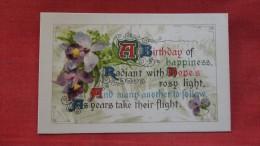 Birthday Silk Front?---- Ref 1909 - Fancy Cards