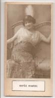 """DOUBLE AUTOGRAFO DÉDICACÉ AUTOGRAPHED """"MERLI SCOTTI & JANE D'AIX"""" VINTAGE 1900 EXCLUSIVE NON CIRCULEE GECKO - Autographs"""
