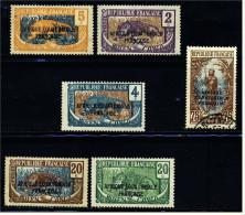 6 Briefmarken Francaise Congo  -  Aufdruck : Afrique Equatoriale Francaise  -  5 Ungestempelt / 1 Gestempelt - Ungebraucht