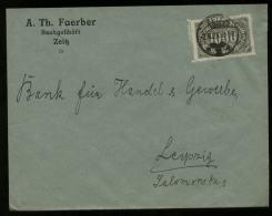 S2881 DR Infla EF Firmen Briefumschlag Faerber: Gebraucht Zeitz - Leipzig 1923 , Bedarfserhaltung. - Lettres & Documents