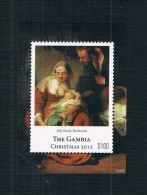 DA1207 Gambia 2012 Rembrandt Painting Holy Family Christmas 1M Whole - Gambia (1965-...)