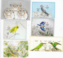 Oman New Issue 2014, 6 Birds Issued In Souvenir Sheets ONLY  Complete Set,MNH, Scarce-Limited- Nice Topical -SKRILL ONLY - Oman