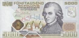 Austria Pre-Euro 5000 Schilling 1988 P153 Reproduction - Oesterreich