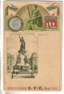 CPA PIONNIERE GAUFFREE PARIS 3°, 10°, 11° ARRONDISSEMENT - La Statue De La République Et Publicité Chicorée D.V-C Bayon - Arrondissement: 09