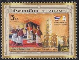 2014 - THAILANDIA - 350° ANN. DEL SINODO DI AYUTTHAYA - EMISS. CONGIUNTA CON VATICANO - JOINT ISSUE WITH VATICAN.  MNH - Emissioni Congiunte