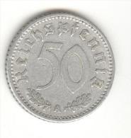 50 Reichespfennig Allemagne / Germany 1935 A - [ 4] 1933-1945 : Third Reich