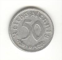 50 Reichespfennig Allemagne / Germany 1935 D - [ 4] 1933-1945 : Third Reich