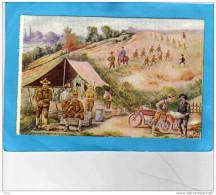Guerre 14-18-les Américains à L'instruction- Estafette à  Moto*- Fusillier Mitrailleur--- Illustrée Par -A DEGERT -TTB - Guerra 1914-18