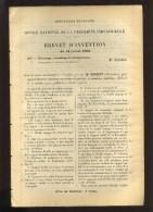 - DETENDEUR REGULATEUR AUTOMATIQUE DE PRESSION . BREVET D´INVENTION DE 1903 . - Wissenschaft & Technik