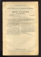 - CULTURE ET PALISSAGE DE VIGNES GREFFEES . BREVET D´INVENTION DE 1903 . - F. Trees & Shrub