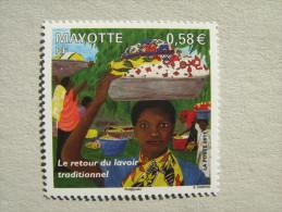 MAYOTTE   P 247  * *    RETOUR DU LAVOIR - Neufs