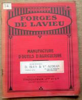 """Catalogue """"Outils D'agriculture, Forges De Lavieu, Anciens Ets Thoulieux, Saint-Chamond (Loire) - Vieux Papiers"""