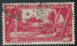 Italia 1932 Usato - Decennale 75c VEDI SCAN - Oblitérés