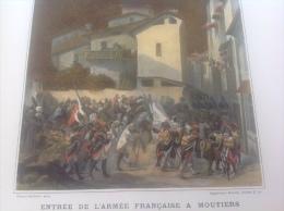 ENTRÉE DE L'ARMÉE FRANÇAISE A MOUTIERS - CAMPAGNE DE 1794 - ARMÉE DES ALPES - Documents Historiques