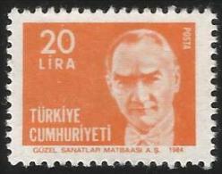 TURKEY 1984 (**) - Mi. 2678, ATATÜRK Regular Issue Stamp - 1921-... République