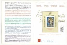 Filatelia - FOLDER SPECIALE - ANNO 1994 - LA CAPPELLA SISTINA - FOGLIETTO - Blocchi E Foglietti