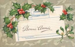 NOVELTY - HAPPY NEW YEAR - TELEGRAM - EMBOSSED  Nov65 - New Year