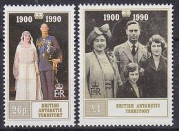 British Antarctic Territory 1990 Queen Mother´s Birthday 2v ** Mnh (23517B) - Brits Antarctisch Territorium  (BAT)