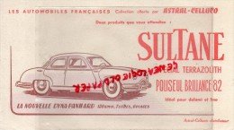 AUTOMOBILE - BUVARD VOITURE SULTANE- SPECIAL TERRAZOLITH- DYNA-PANHARD - ASTRA-CELLUCO - Automotive