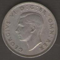 GRAN BRETAGNA TWO SHILLINGS 1949 - 1902-1971 : Monete Post-Vittoriane