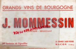 71 - MACON - BUVARD - J. MOMMESSIN - GRANDS VINS DE BOURGOGNE - LA GRANGE SAINT PIERRE - Food