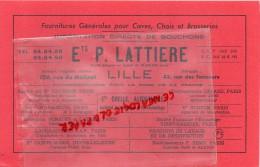 59 - LILLE - BUVARD - ETS P. LATTIERE- 106 RUE DE MOLINEL- FOURNITURES BRASSERIE- ETS CHELLE ALFORTVILLE- - Food