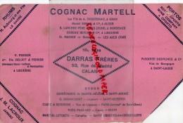 16 - COGNAC - BUVARD COGNAC MARTELL- DARRAS FRERES -53 RUE DE MADRID- COGNAC J.M. LACROUX  JARNAC- RHUM AUBOURG LE HAVRE - Food