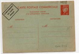 ENTIER NEUF PETAIN 80c - COMPLEMENT DE TAXE PERCU - Cartes Postales Types Et TSC (avant 1995)
