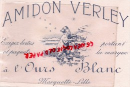 59 - LILLE - MARQUETTE - BUVARD AMIDON VERLEY - OURS BLANC - - Blotters
