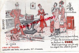 BUVARD - LE COKE DE GAZ DE FRANCE - JOUET TRAIN ELECTRISQUE AVEC GARE- POELE- - Vloeipapier
