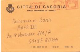 CITTA' DI CASORIA - 80026 PROV NAPOLI - LS/AMR - 2014 - 12X18 - TEMA TOPIC COMUNI D´ITALIA - STORIA POSTALE - Affrancature Meccaniche Rosse (EMA)