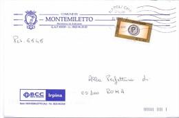 COMUNE DI MONTEMILETTO- 83038 PROV AVELLINO - PP - 2007 - 12X18 - TEMA TOPIC COMUNI D´ITALIA - STORIA POSTALE - Affrancature Meccaniche Rosse (EMA)
