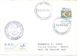 ESTACAO ANTARTICA COMANDANTE FERRAZ BRASIL ENVELOPPE CIRCULEE 1993 A  ERNESTO A. COHN BRASILIA VIGNETTE S.A.L. RARE TBE - Timbres