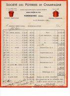 F368 - FACTURE - 10 - VENDEUVRE RADONVILLIERS - SOCIETE DES POTERIES DE CHAMPAGNE - 1941 - France