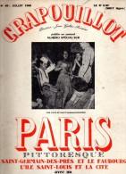 CRAPOUILLOT - PARIS PITTORESQUE- SAINT GERMAIN DES PRES- ILE SAINT LOUIS ET LA CITE-DICTIONNAIRE DES RUES- N° 49- 1960 - Books, Magazines, Comics