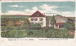 D CPA ST SAINT AVOLD LITHO GRUSS VON DER AMBACHER MUHLE 1910 ASSEZ RARE TOP A VOIR - Saint-Avold
