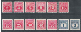 Bosnien Porto 1916 Satz ANK 14 - 26, *, KW: 90�