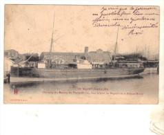 CPA MALVINA CGT CONSTRUIT EN 1868 A GLASGOW A SAINT NAZAIRE BASSIN PENHOET BRETAGNE COLLECTION ABC - Piroscafi