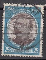 Cinquantenaire De L'Etablissement Des Colonies 25p Bleu  N°502 - Oblitérés